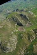 """Immagine aerea della """"conca"""" e dell'inghiottitoio"""