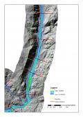 Modello 3D di un tratto del Fiume Liscia nella Sardegna settentrionale