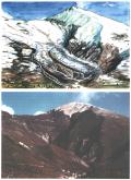 Ricostruzione del ghiacciaio del Bevano (disegno di Marco Astracedi)
